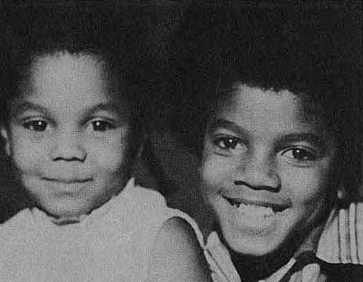 c.1969: Michael and Janet Jackson as children