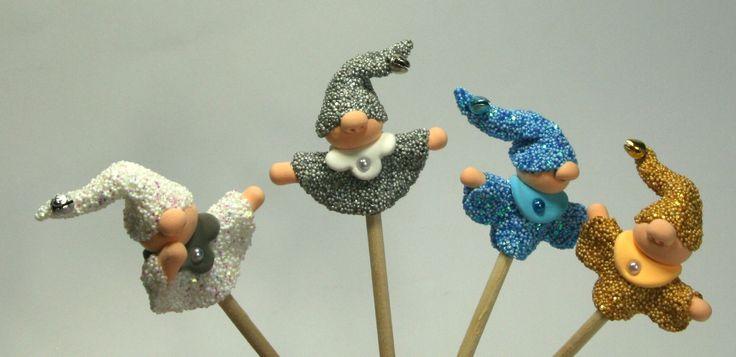 CraftEmotions glitter foamball clay - projects made by Jolanda van Noordenburg.