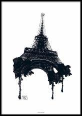 Tavlor, posters och affischer med världskarta och städer. Tavla med New York / Paris karta online.