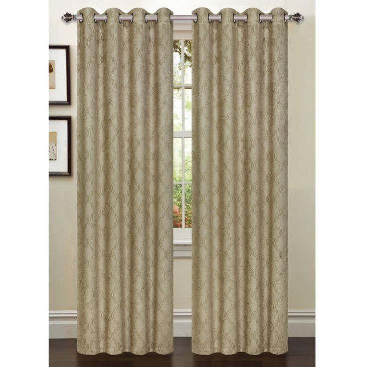 Newbury Lattice Room Darkening Extra Wide Single Curtain Panel