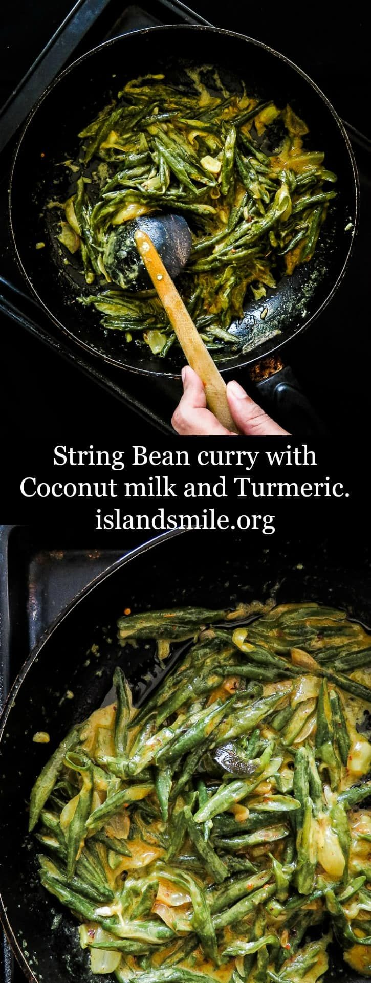 String-bean-curry-with-Turmeric-and-Coconut-milk-(Sri Lankan)-islandsmile.