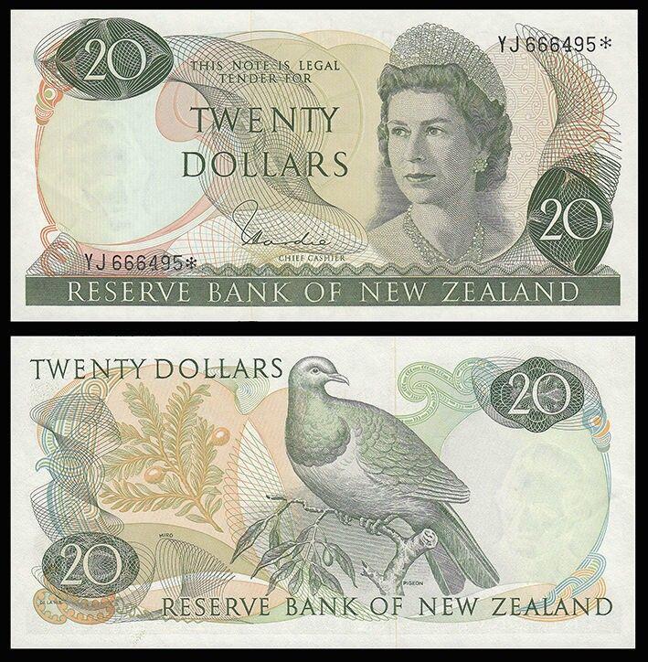 Old New Zealand Twenty Dollar Note front & back