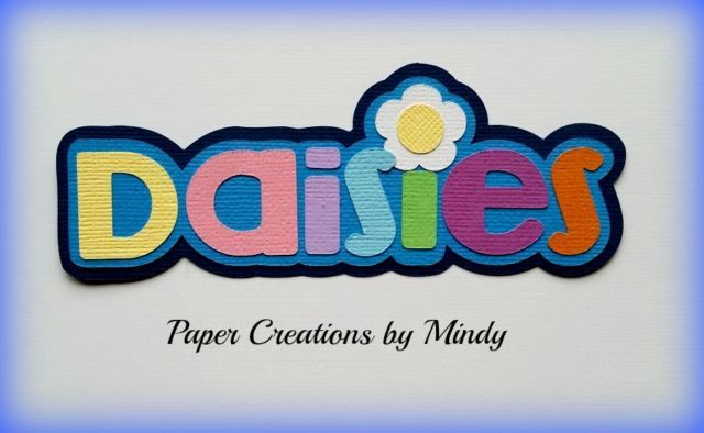 Craftecafe Mindy Girl Scouts Daisy Girl Title Premade Paper Piecing Scrapbook…