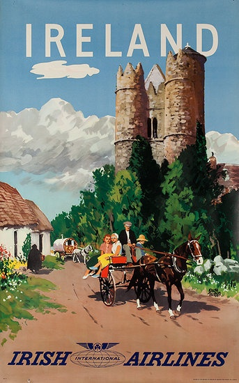 vintage travel poster for Ireland