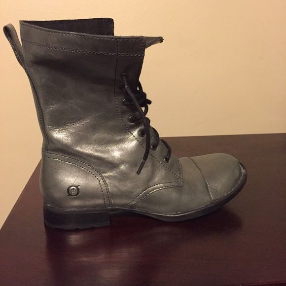 Born boots like new Silver leather born boots worn once Born Shoes Ankle Boots & Booties