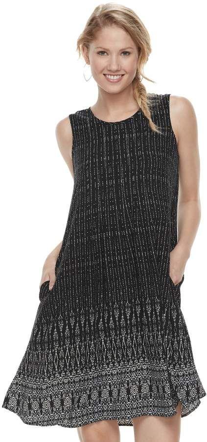 e421811462c Sonoma Goods For Life Women s SONOMA Goods for Life Pintuck Challis Shift  Dress