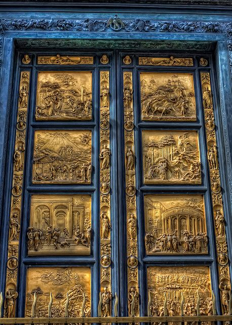 """""""The Gates of Paradise"""", Battistero di San Giovanni -Florence, Italy-looks like the gates at the Vatican, Saint Peter's"""