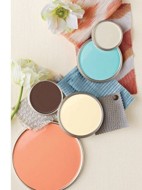 Modern Mediterranean color palette from Better Homes & Gardens