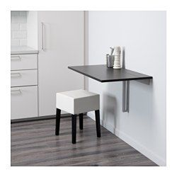 IKEA - BJURSTA / NILS, Table and 1 stool, , Becomes a practical shelf for small things when folded down.You save space when the table is not being used as it can be folded away.The clear-lacquered surface is easy to wipe clean.The padded seat means you sit comfortably.Machine washable cover; easy to keep clean.The cover is durable as it is made of pre-washed, hardwearing twill which is a heavily woven cotton fabric.The cover for NILS stool is easy to put on and take off.