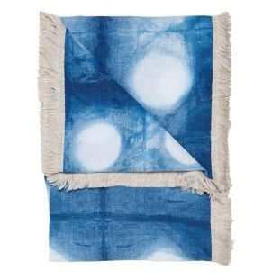 lumiere perfect circles linen throw
