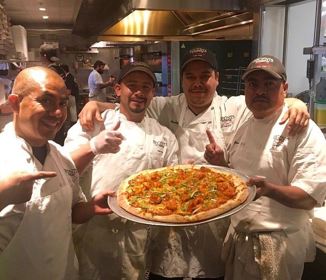 Here it is, the pizza that promises to make your Cinco de Mayo  feel like a fiery blaze of glory. Emphasis on the glory. Shrimp Diablo NY-style pie, with chili tomatillo sauce, shrimp, green onions and a cilantro mozzarella blend. On special ALL WEEK, made with love by these guys. . . . . . #cincodemayo #cincodemayo2017 #eldiablo #shrimpdiablo #pizzaspecial #pizza #nystylepizza #lajolla #sandiego #sd #regentspizzeria #regentspizza #youstayhungrysd #wheresandiego #eatmorepizza #bemorehappy…