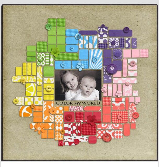 #papercraft #scrapbook #layout: Would be cute with ombre effect also...