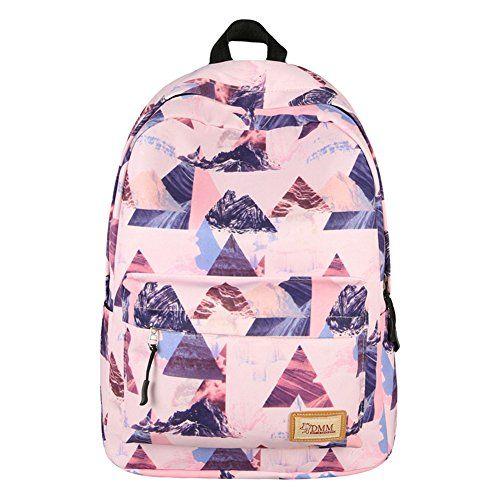 RYC Rentrée Scolaire Backpack Sac à Dos Scolaire Cartable Ecole Fille Unisexe Loisir Voyage Collège Lycée 30*17*40cm: RYC Rentrée Scolaire…