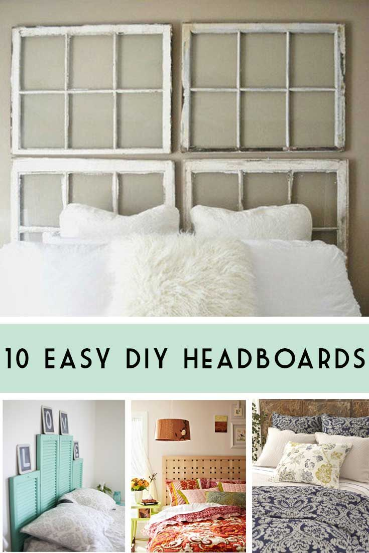 10 Great DIY Headboards that you can