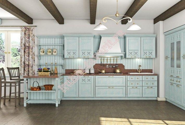Кухни Прованс изготовлены из массива в классическом стиле