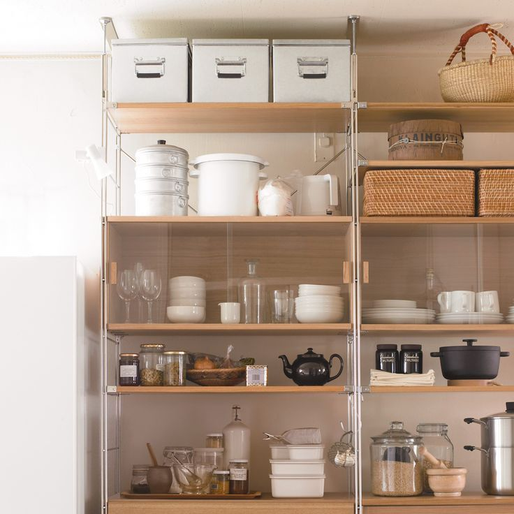 Working with small spaces? No worries! Tall, open shelves make storage easy, breezy and organized.