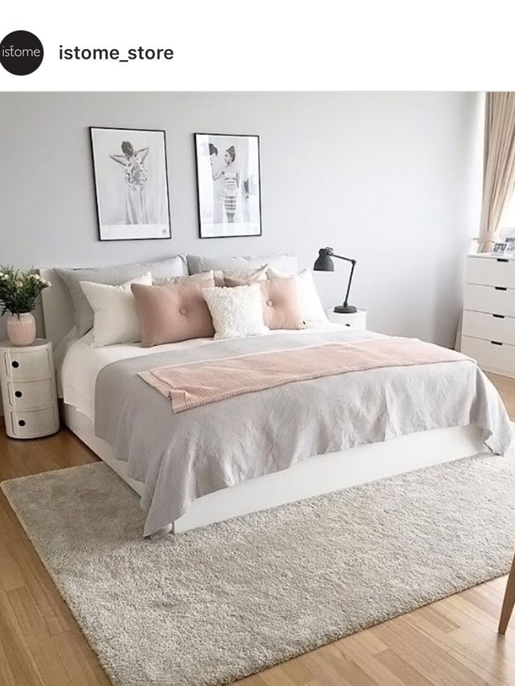 Image Result For Blush And Gray On Top Of Bronze Bed Frame Pink Bedroom Decor Pink And Grey Room Grey Room Decor