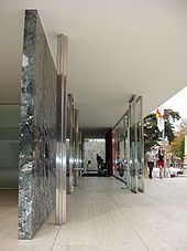 Barcelona-Pavillon, Barcelona 1929 (Rekonstruktion 1986)