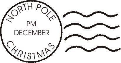 North pole, Christmas art and Envelopes on Pinterest