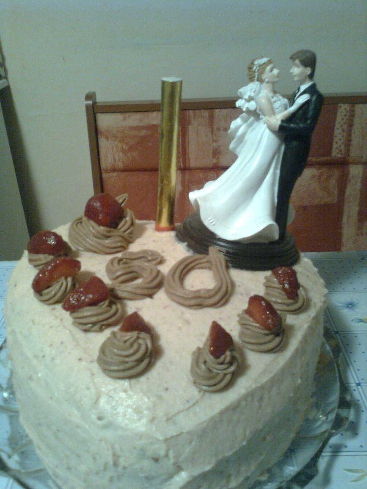 Epres szívtorta 50. házassági évfordulóra
