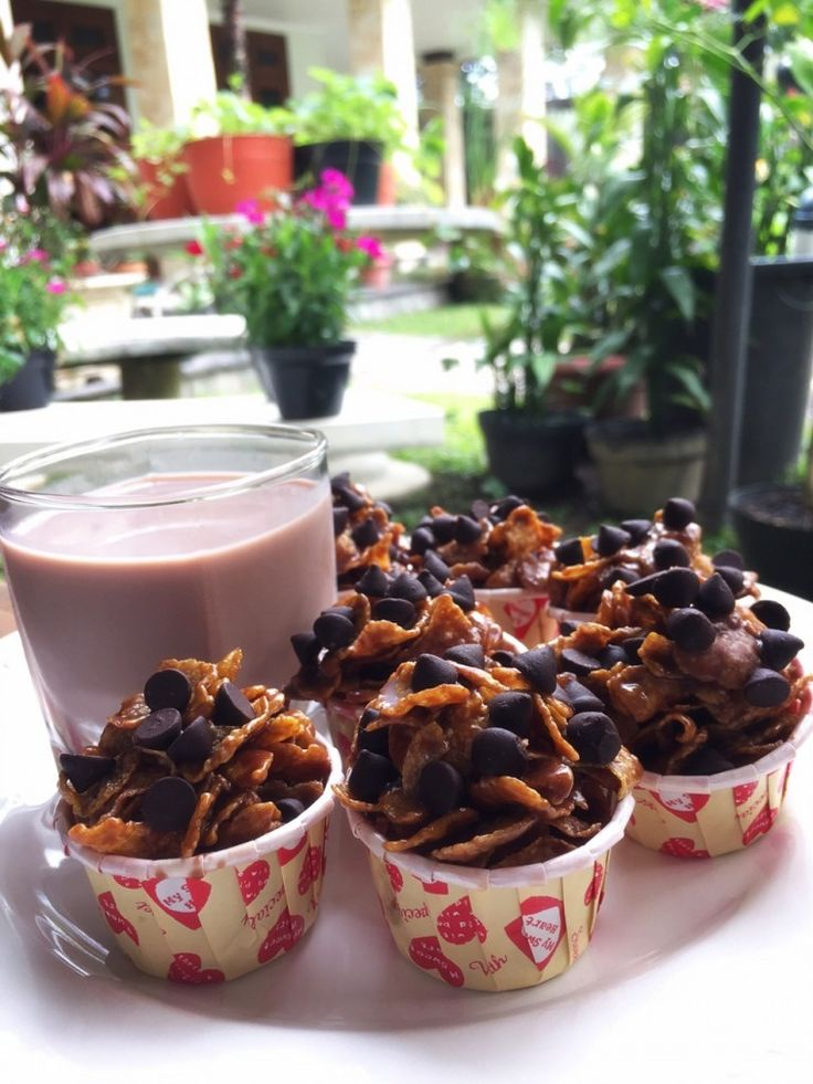 Double Chocolate Corn Flakes in a Cup