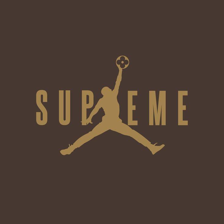 Lv Wallpaper Iphone X Louis Vuitton X Supreme X Air Jordan Promotion Flyer