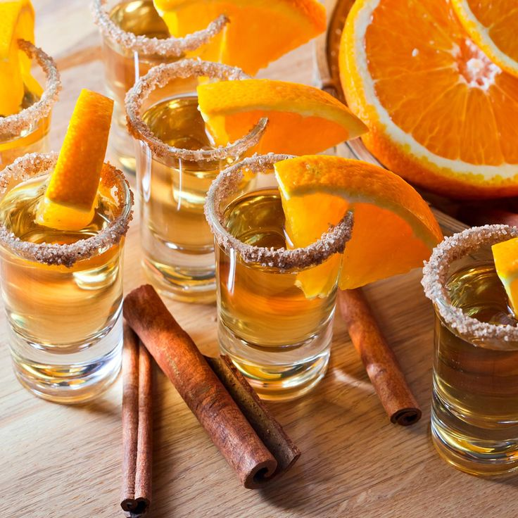 Tequila Shots With Orange & Cinnamon Sugar - Although it's a very dangerous way to start the evening, nothing screams: 'Party!' quite as loud as tequila shots. Inspired by #prettymayhem & #IllovoSugar