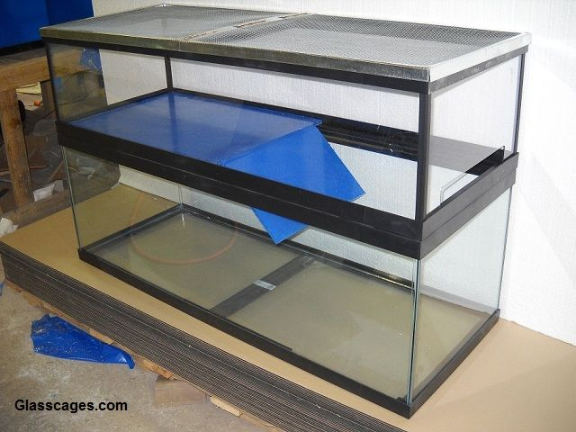 condo tanks / basking tanks that sit on top of the aquarium
