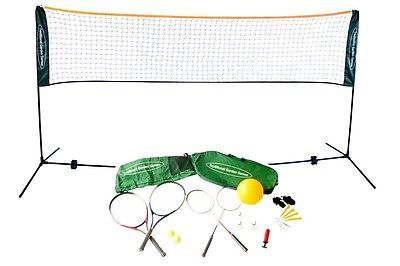 Traditional #garden games badminton #volley ball tennis net 5m #rackets and balls,  View more on the LINK: http://www.zeppy.io/product/gb/2/311665408125/