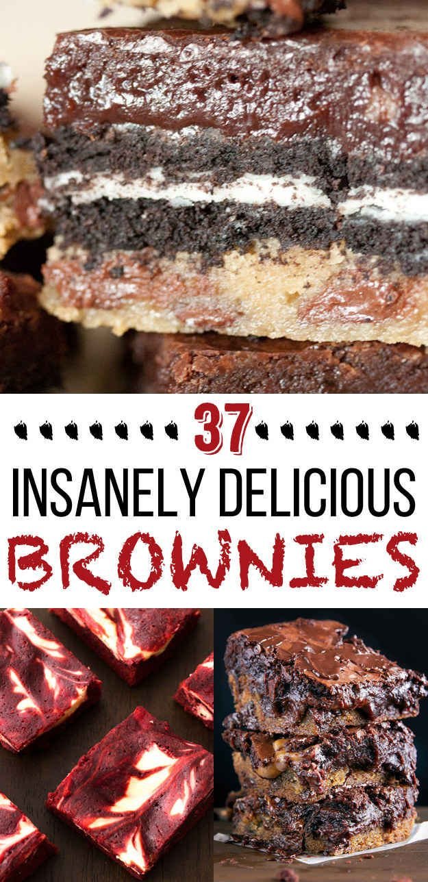 37 Next-Level Brownie Recipes..i really want to try the Best Ever Brownies.