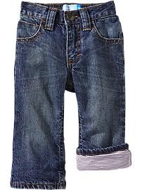 Jersey-Lined Loose-Fit Jeans for Baby