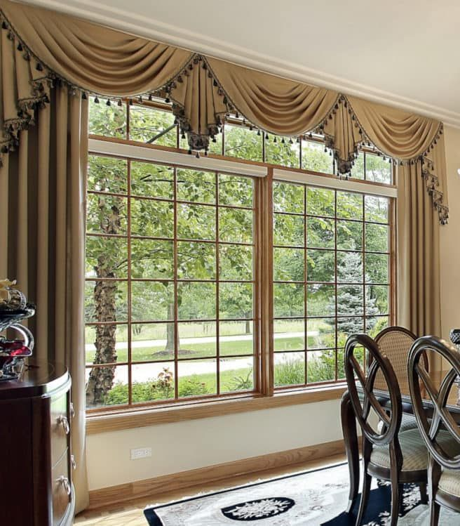 Valances For Wide Windows Tips From A Workroom Dining Room Window Treatments Window Treatments Living Room Dining Room Windows