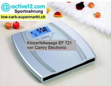 NEU IM SORTIMENT: Ein tolles Gerät! Körperfettwaage EF 721 von Camry Electronic, Messung bis 150 kg Körpergewicht, Körperfett, Körperwasser, Muskelmasse, Körperknochen, theoretische Kalorienempfehlung