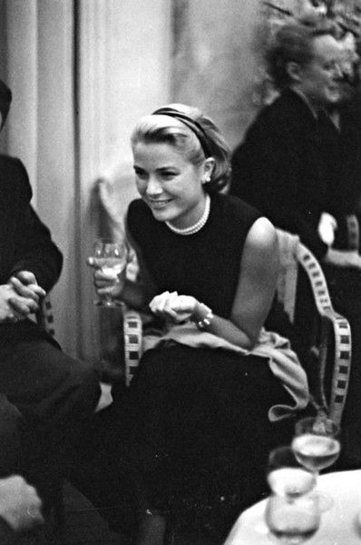 Grace Kelly-just beautiful, my black sheath  ...with pearls, uniform!