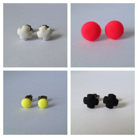 Stud Earrings Pick Any 4  Polymer Surgical by FawknerStDesigns, $30.00
