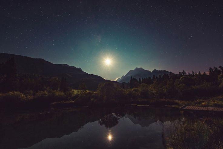 Zelenci Mountains  #mountains #night #nightsky, #nighttime #camping #beautiful #stars #moon #nature #landscape