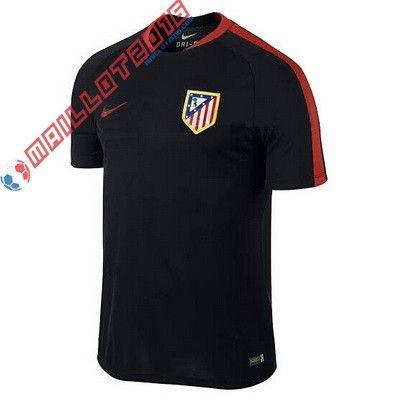 Nouveau maillot de foot Training Atletico Madrid 2016 Noir €22,99