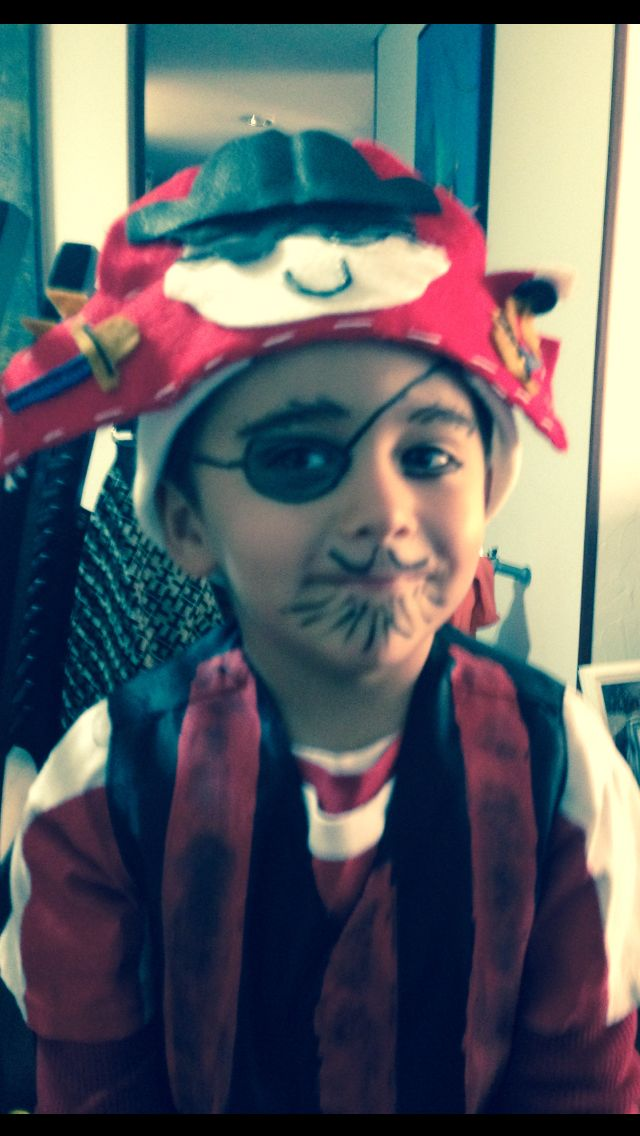 Disfraz pirata para niños.
