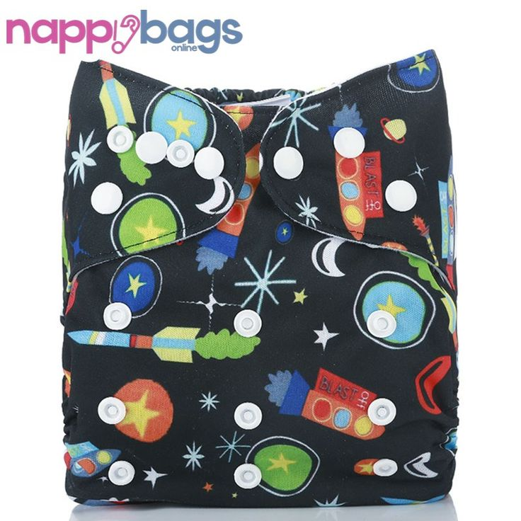 Super Rockets Bamboo 3 - 36 Mth Waterproof Cloth Nappy //Price: $14.82 & FREE Shipping //     #motherhood
