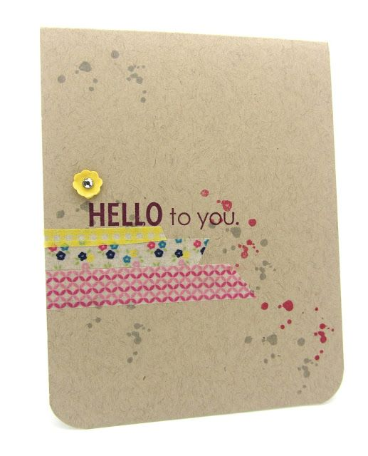 A simple card using Stampin' Up! Wasi Tape