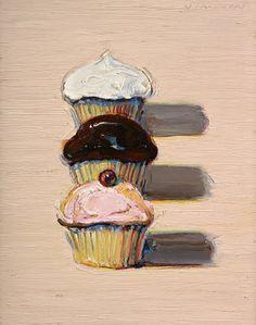 "PaperCity | Arts | Dallas Art Fair 2010: Wayne Theibaud's ""Three Cupcakes"""