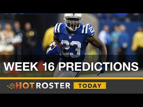 2016 Fantasy Football: Week 16 Predictions w/ Corey Parson | HotRoster Today