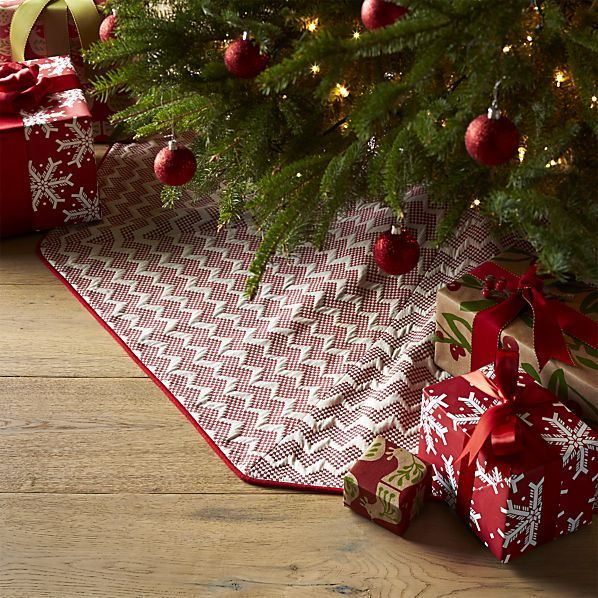 """Reilly Red 52"""" Tree Skirt"""