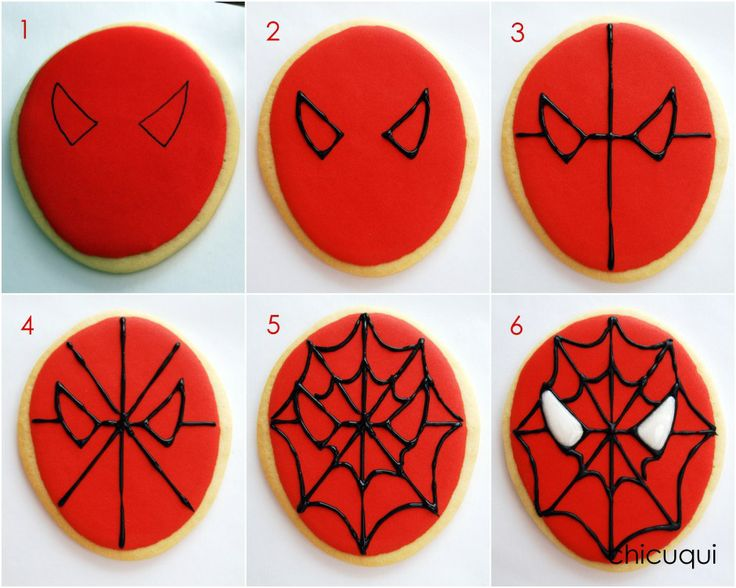 spiderman galletas decoradas decorated cookies chicuqui.com