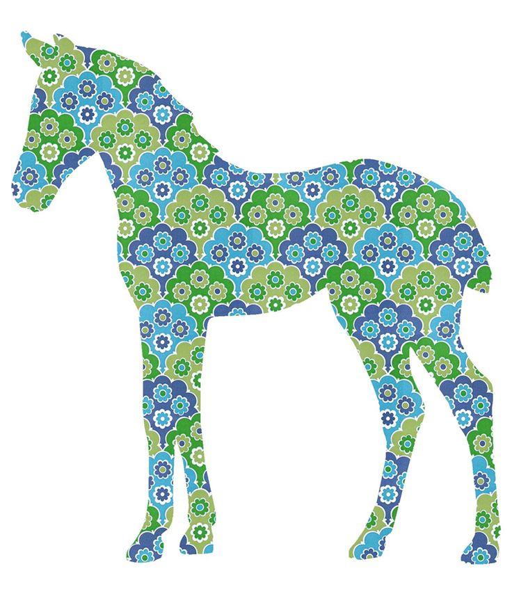 Inke Tapetentier Fohlen blau/grün 036 bei Fantasyroom