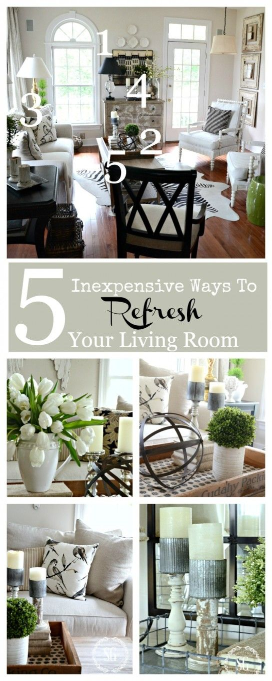 5 inexpensive ways to refresh your living room living rooms and love. Black Bedroom Furniture Sets. Home Design Ideas
