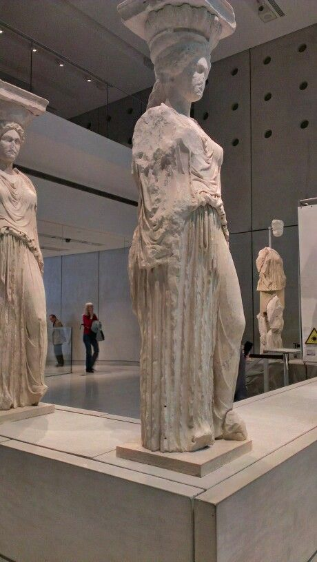 Karyatides at the #Acropolis museum, #Greece.