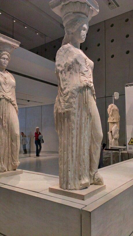 Karyatides at the #Acropolis museum, #Greece.