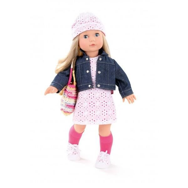 Götz Happy Kidz Emily is a 50 cm doll and comes with blond hair, brown eyes and dressed in a grey two-piece witih pink ugg boots.Goetz Happy Kidz dolls are jointed.y#toys2learn#gotz#doll#45cm#precious#day#jessica#hair#long#blonde#australia#