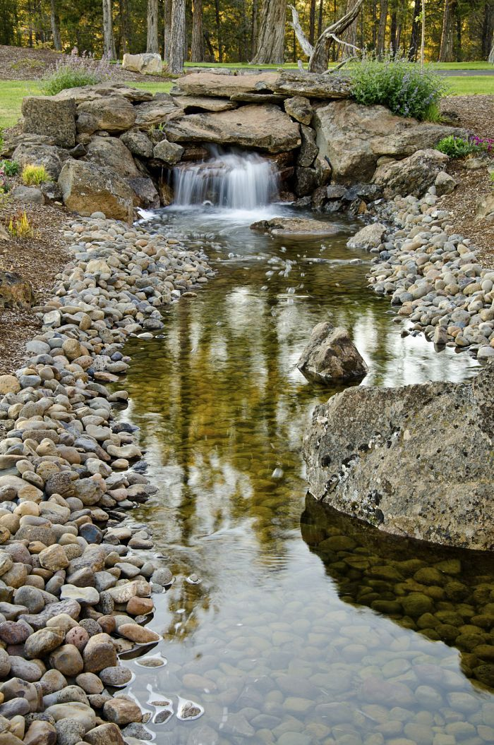17 best ideas about garden stream on pinterest backyard for Natural garden pond